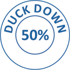 Downia 50% Duck Down and Feather King Pillow