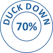 Downessa Down Rich 70% White Duck Down Pillow