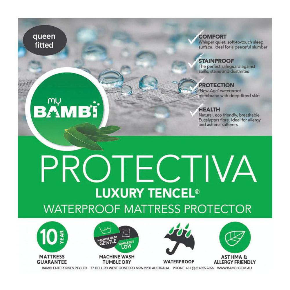 Bambi Protectiva Luxury Waterproof Tencel Mattress Protector Breathable