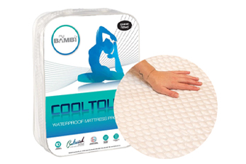 Cooling Mattress Protector from Bambi with texture