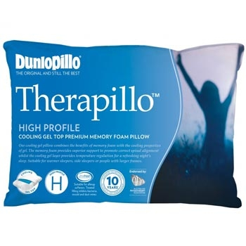 Dunlopillo Therapillo Memory Foam Cooling Gel Pillow