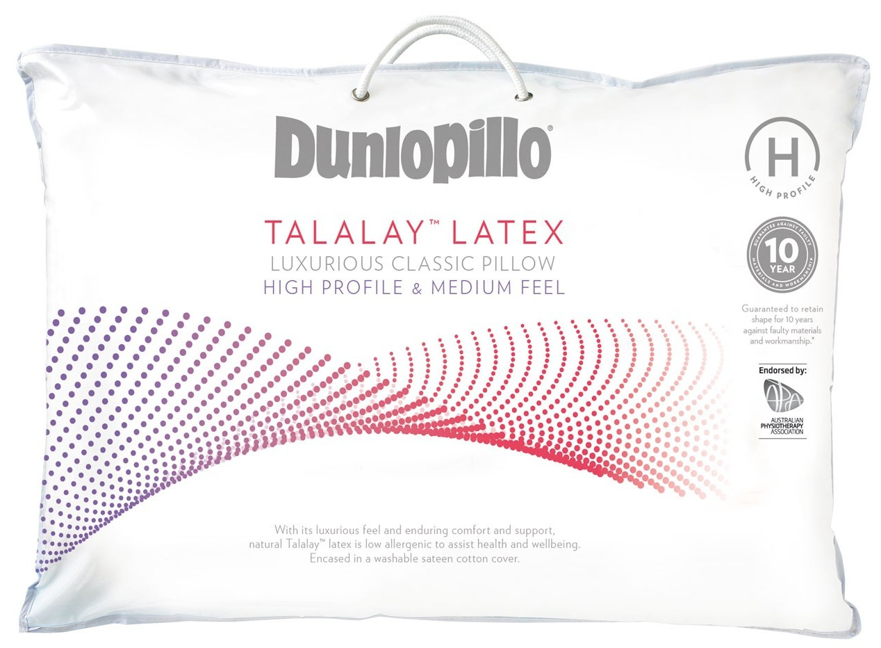 dunlopillo latex high profile