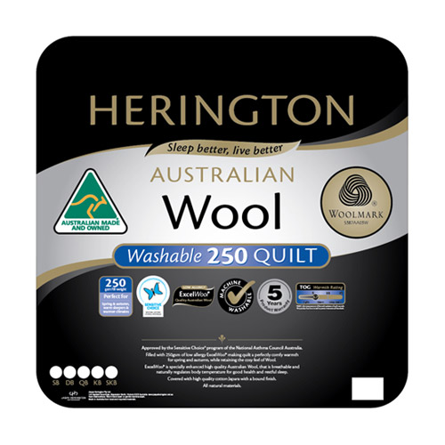Herington Washable Australian Made Wool Quilt
