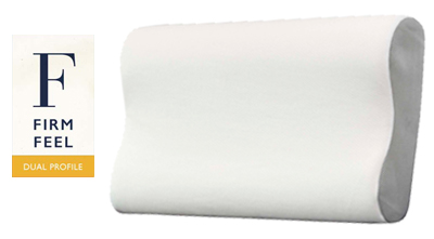 John Cotton Classic Memory Foam Pillow Dual Contour Profile Firm Feel