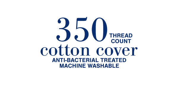 350 thread count cotton cover