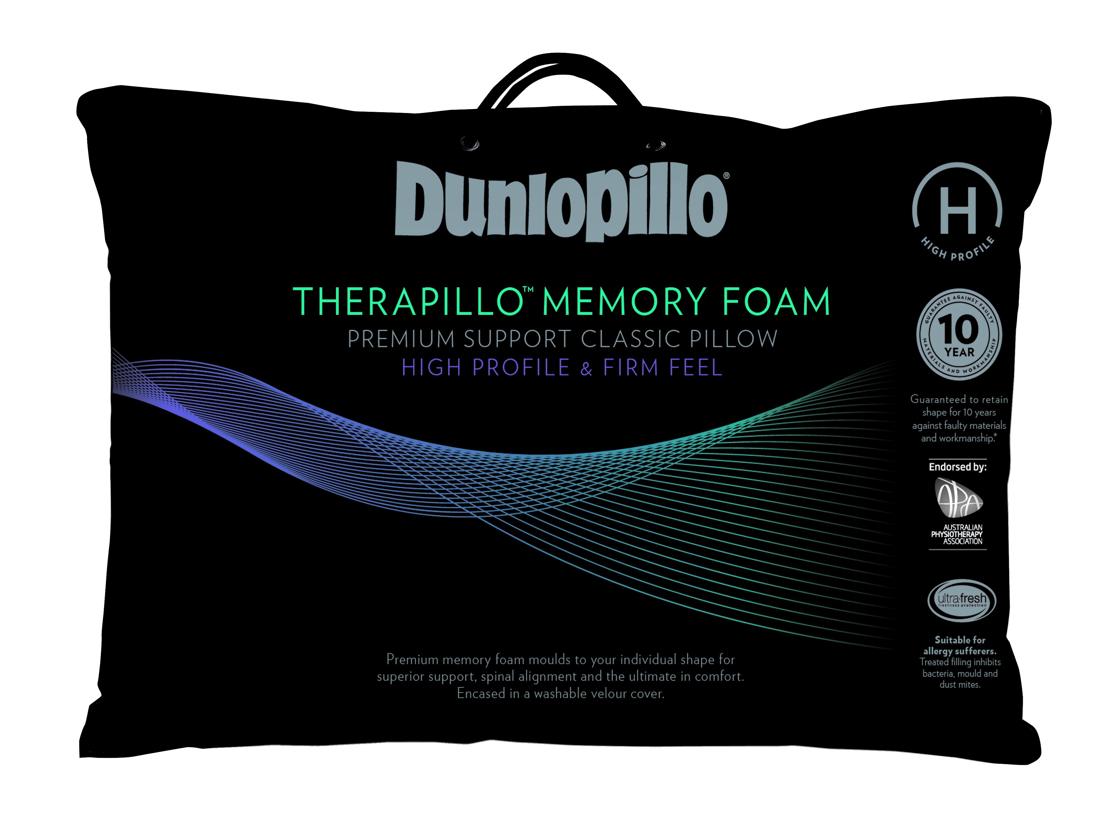 Dunlopillo Premium Memory Foam Pillow High Profile