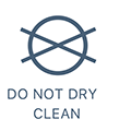 Do not dry clean