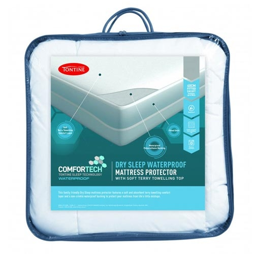 tontine comfortech dry sleep waterproof mattress protector. Black Bedroom Furniture Sets. Home Design Ideas