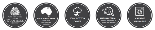 Tontine Luxe Washable Wool Quilt Icons