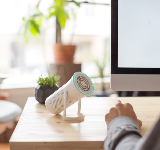 Wynd Smart Personal Air Purifier On Desk
